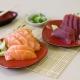 Sashimis de salmão e atum