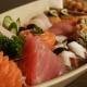 Combinado de sushi e sashimi do rodízio