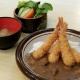 Combinado de karê com camarão frito
