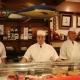 A equipe do restaurante