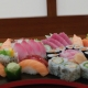 Combinado de sushi e sashimi