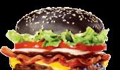 Hambúrguer preto do Burger King no Brasil