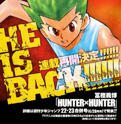 O Retorno do Mangá Hunter X Hunter, Mangá Hunter X Hunter, Hunter X Hunter