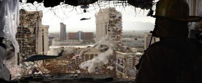 O rastro de destruição em Las Vegas.
