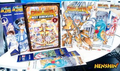 Os volumes mais recentes de Lost Canvas Gaiden e Next Dimension