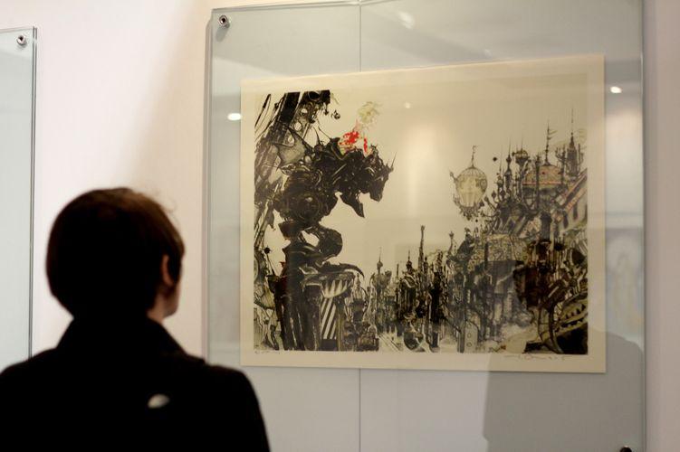 Exposição de obras de Yoshitaka Amano no Game World 2012