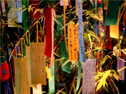 Tanzaku é a tira de papel onde se escreve um pedido