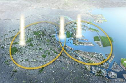 Os jogos acontecerão nas duas zonas principais e no centro será construída a Vila Olímpica