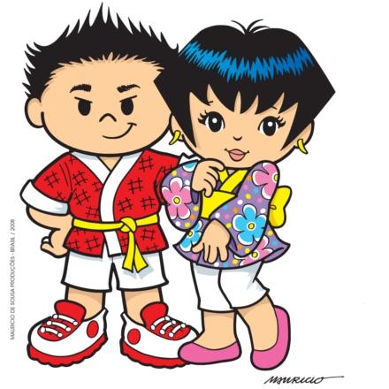 Tikara e Keiko, personagens criados em homenagem ao centenário da imigração japonesa no Brasil