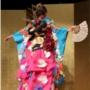 Desfile de quimonos da era pós-moderna