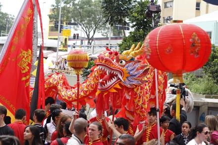 Desfile do Dragão foi a atração principal na festa de 2013