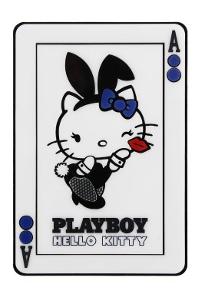 Espelho com desenho da linha comemorativa dos 40 anos da Hello Kitty e 60 anos da Playboy