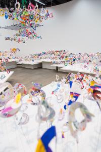 Caracóis feitos no Japão na exposição Opa! Uma alegre revelação