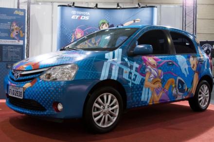 Toyota Etios Mangá, exposto no AkibaSpace de 2013