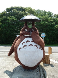 Réplica do Totoro tem 3 metros de altura