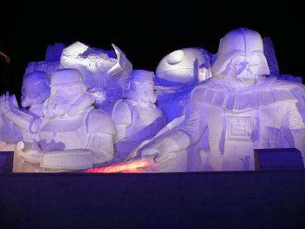 Escultura em homenagem ao Star Wars