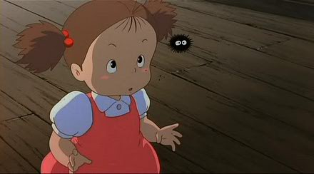 Makkuro kurosuke, que aparece em Meu Amigo Totoro
