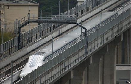 Trem maglev atingiu a velocidade de 603km;h durante testes