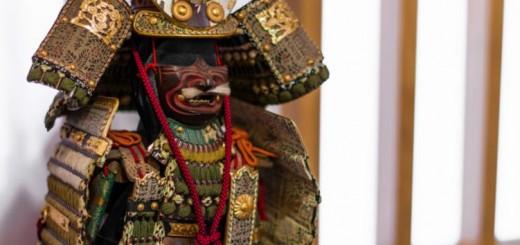 A armadura de um samurai era feita para assustar o oponente