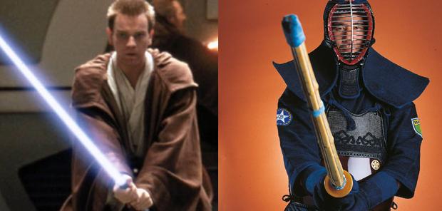 O kendo é a principal arte marcial utilizada no duelo da saga Guerra nas Estrelas
