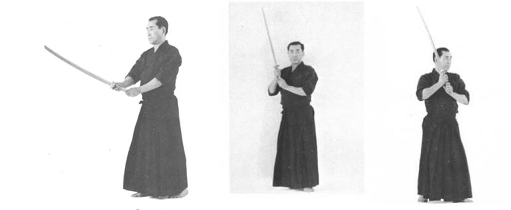 Posições do kendo: chudan-no-kamae e hasso-no-kamae