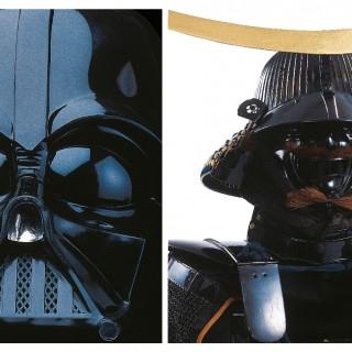 O kabuto (capacete) e o mempo (máscara) do senhor feudal Date Masamune: as peças dos samurais foram as fontes de inspiração de Lucas para criar o visual assustador de Vader