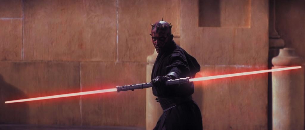 O sabre duplo de Darth Maul pode ter origem em um bastão de duas pontas usado pelos monges budistas