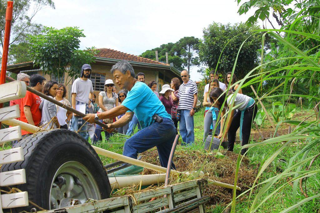 """""""Cultivar uma horta orgânica é o primeiro passo se criar um diálogo com a terra"""", afirma Hiroshi"""