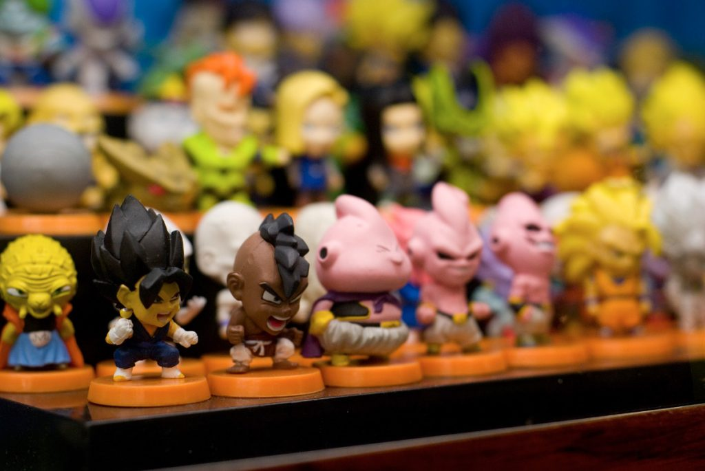 Miniaturas de personagens do anime Dragon Ball