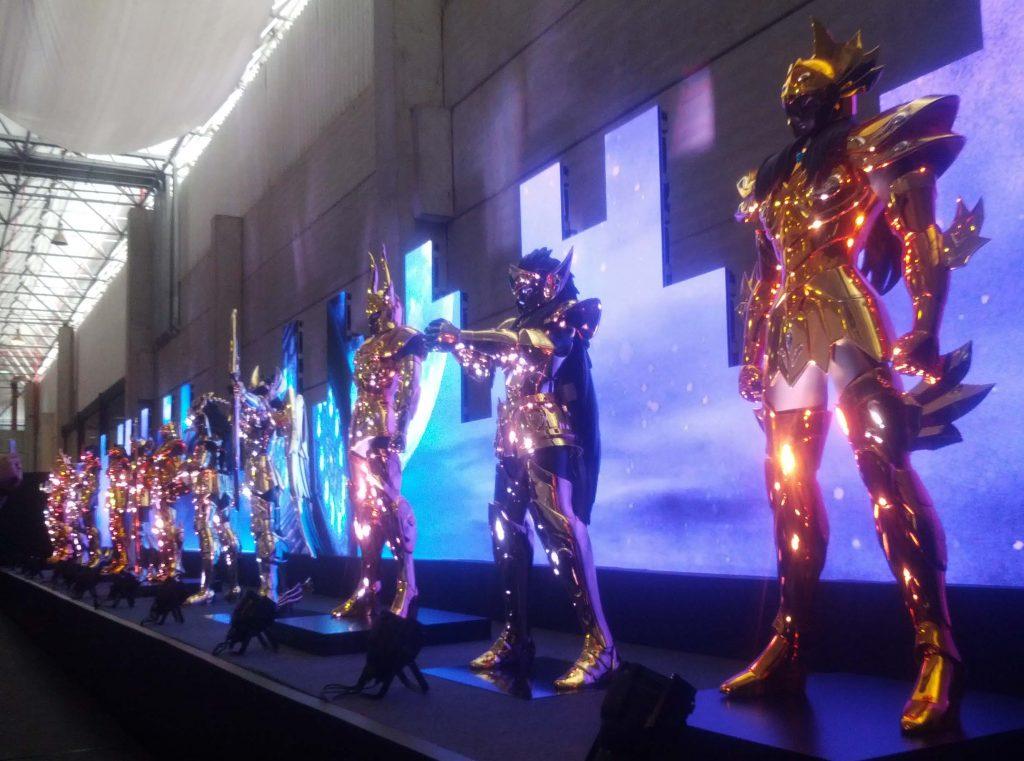 Exposição das 12 Armaduras de Ouro dos Cavaleiros do Zodíaco