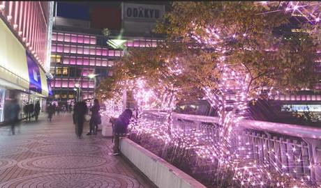 iluminação ao longo do terraço