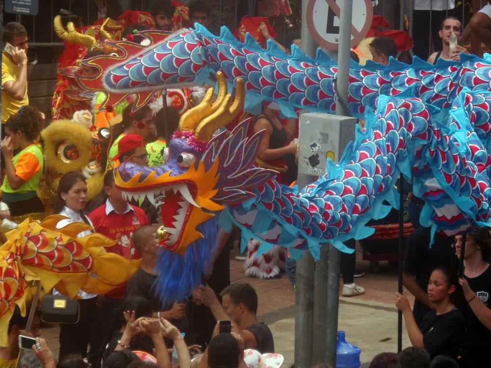 A festa do ano Novo chinês acontece nos dias 28 e 29 de janeiro de 2017, na Liberdade