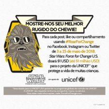 Chewbacca te convida para o #RoarForChange