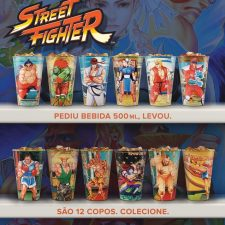 Promo Habib's: Copos temáticos Street Fighter continua