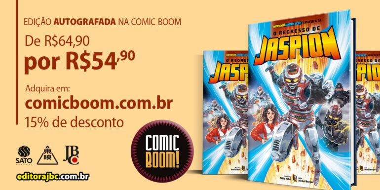 Manga Jaspion edição autografada Comic Boom
