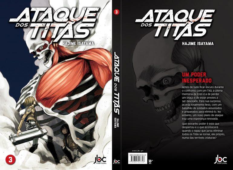 Esta é a capa de Ataque dos Titãs 3