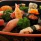 Combinado de sushis do menu à la carte