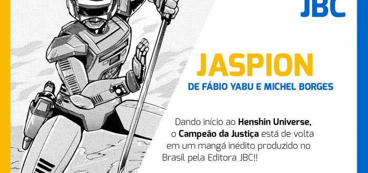 #NovidadeJBC: Mangá do Jaspion!
