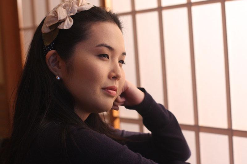 Yasmin Yonashiro, sake sommelier do restaurante Kinoshita