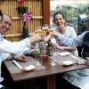 Tsuyoshi Murakami, Marcelo Fernandes, Cilene Saorin e Jo Takahashi brindam a uma degustação bem-sucedida