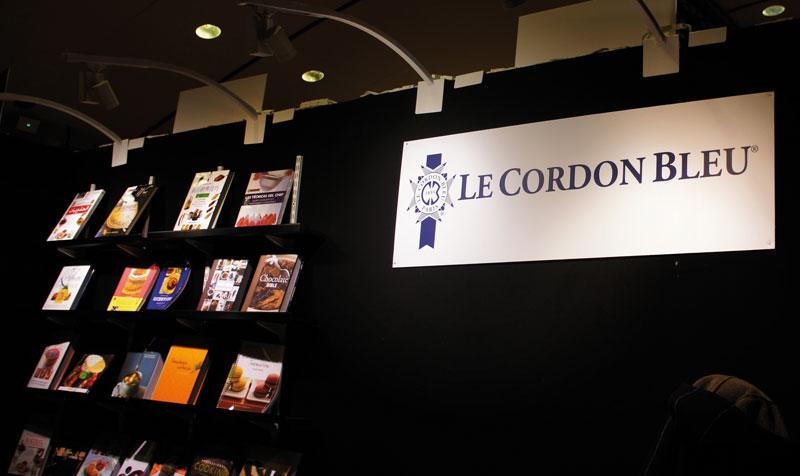Estande da editora Le Cordon Bleu