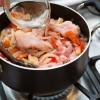 Passo 6: Acrescente água até cobrir os ingredientes.