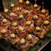Fritura rústica de cogumelo shiitake e guin-nan (semente de gingko biloba)