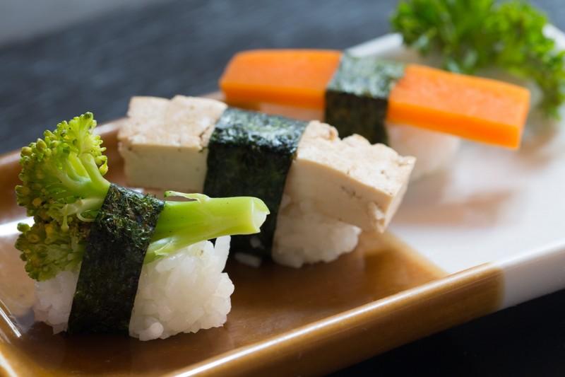 Onde encontrar comida japonesa vegetariana?