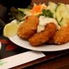 Carne à milanesa com salada, do Ten Sushi