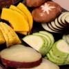 Além de carnes, há opções de legumes e cogumelos