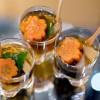 Miniozoni para celebrar o ano-novo preparado pela chef Telma Shiraishi