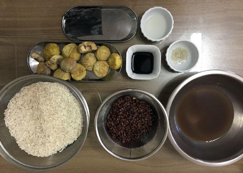 Ingredientes para preparar kuri gohan