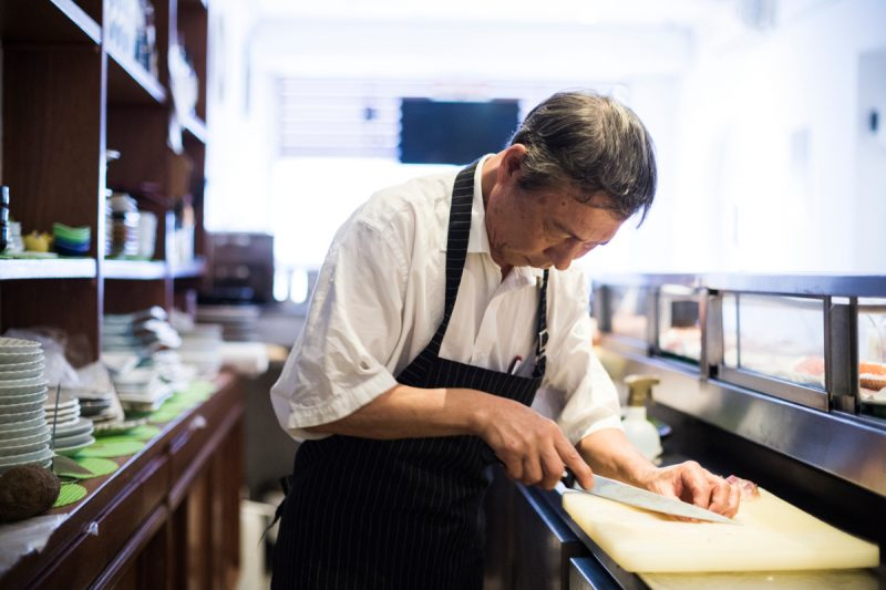 chef Masanobu Haraguchi Ban
