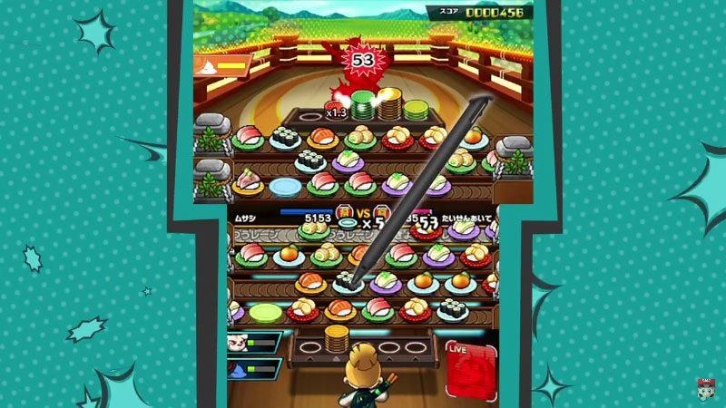 Sushi Striker, o novo game para Nintendo 3DS